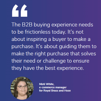Buyers need frictionless experience
