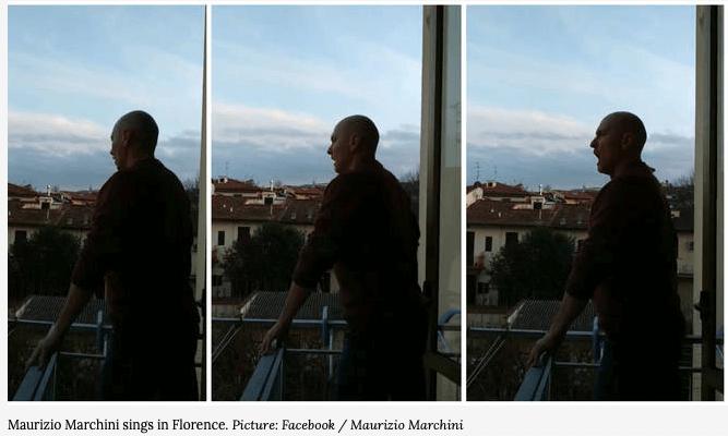 Tenor in Florence signs during Coronavirus