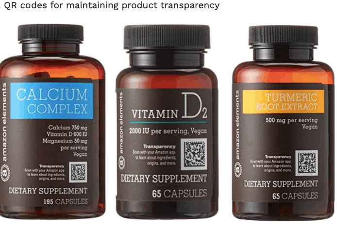 QR code delivers product information